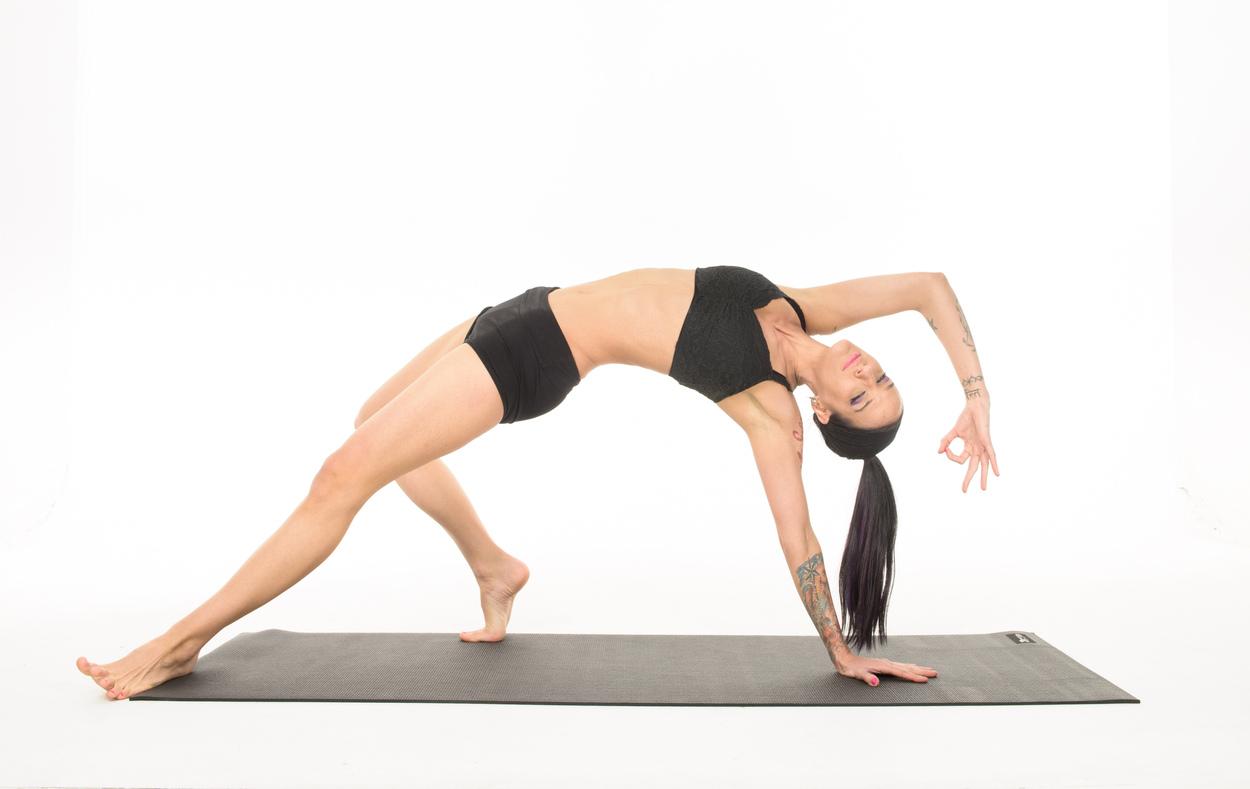 Yoga Poses - Wild Thing Pose