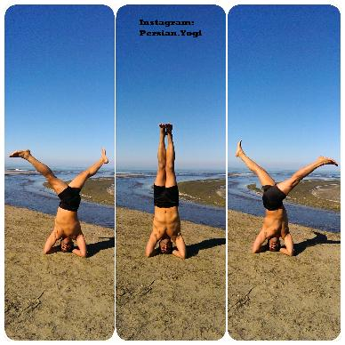 yoga poses  supported headstand