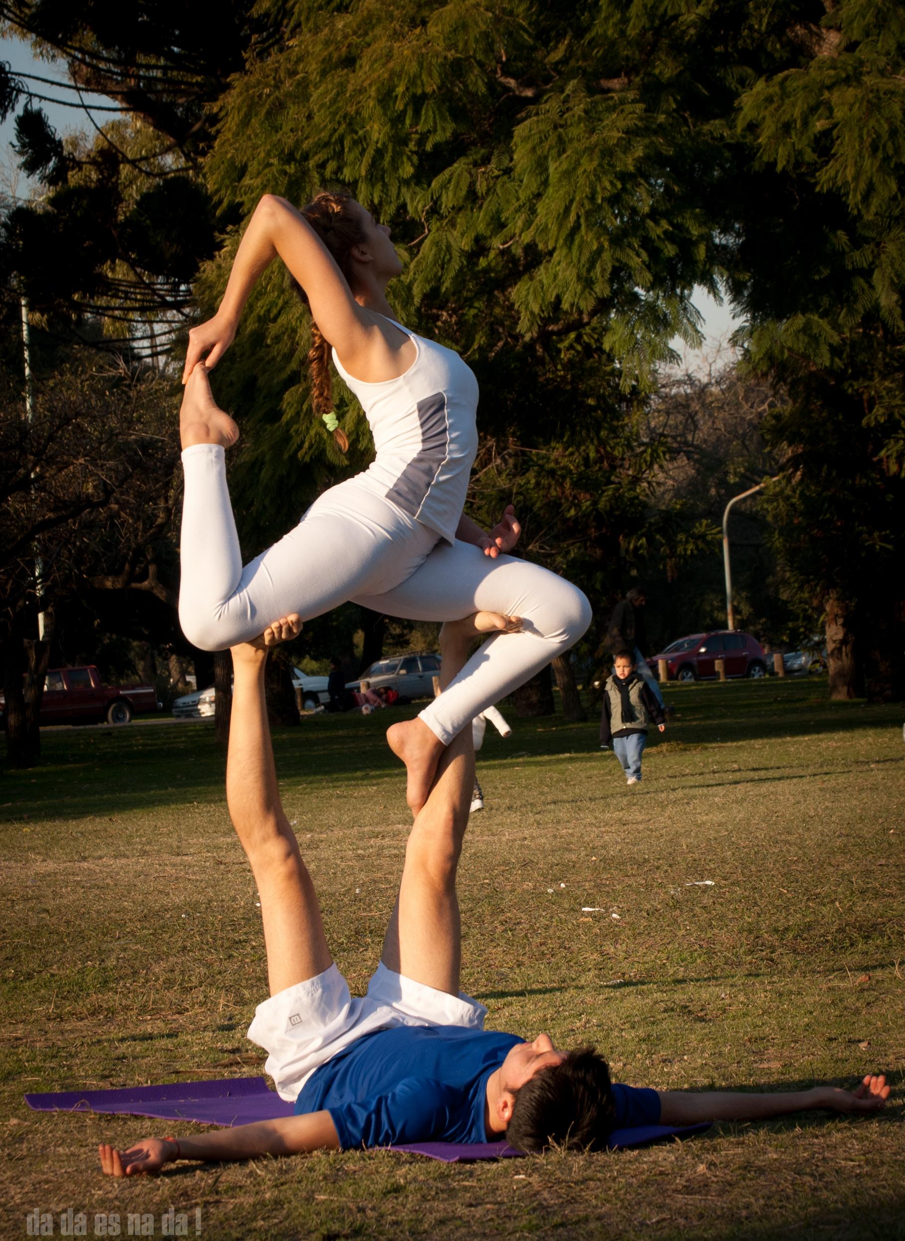Crane yoga